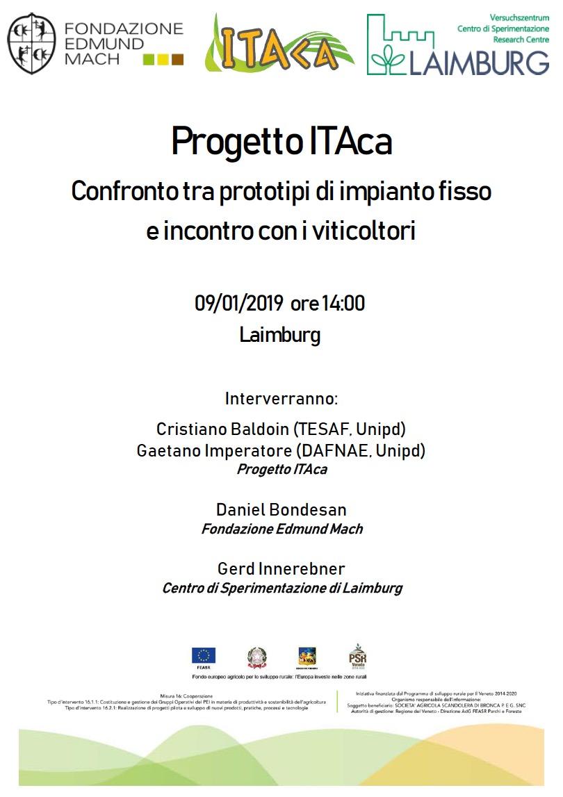 Incontro Laimburg Progetto ITAca